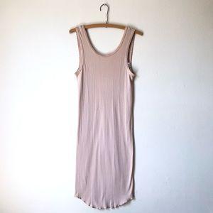 Urban Outfitters beige/nude low scoop back slip